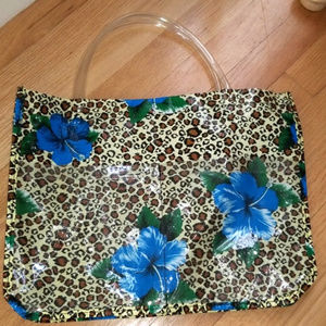 Handbags - Floral Leopard Tote Bag